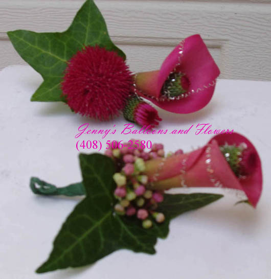 {boutonniere that goes with the centerpiece}