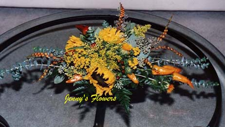 {I made this centerpiece for fall season}