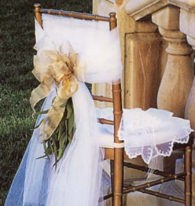 {This elegant chair is for the Bride}