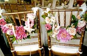 {Decorate chair at the wedding}