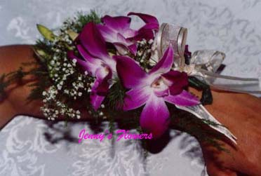 {Orchid Corsage to wear on your hand or anywhere}