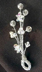 {crystal boutonniere}
