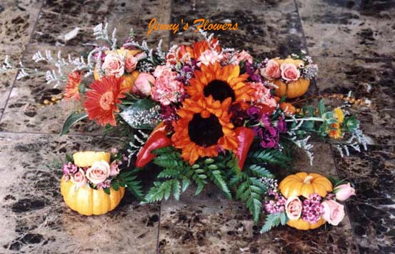 {I made this centerpiece for Andy's Halloween Party}