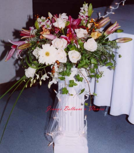 {Two Centerpieces at the Cake table}