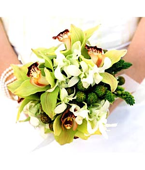 {Lovely Green Orchid Bouquet}