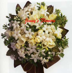 {Bouquet with Fragrant Stephanotis with Bouvardia}