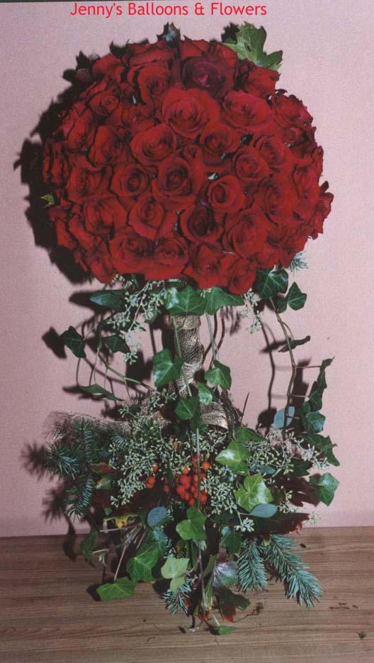 {I'm making this topiary for valentine or wedding with 4 dozen of roses.}