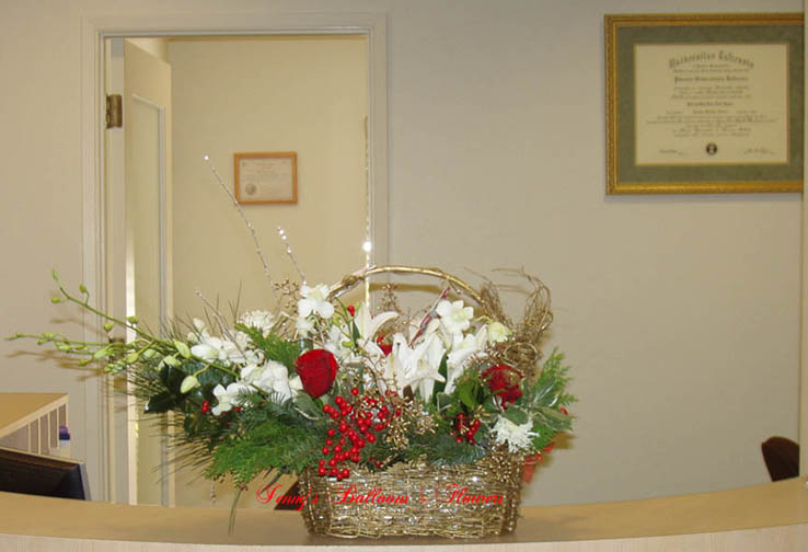 {Xmas Centerpiece for Dr. Rosa Wynn  (408) 257-1272}