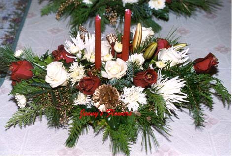 {I made this arrangement for Christina's Company}
